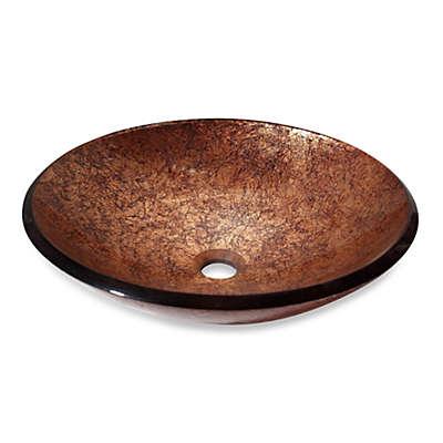Avanity Tempered Glass Vessel Sink in Copper