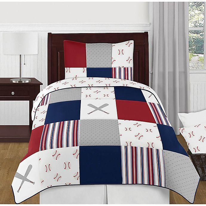 Alternate image 1 for Sweet Jojo Designs® Baseball Patch Children's Bedding Collection