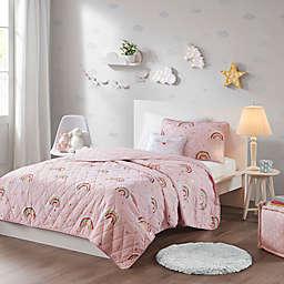 Mi Zone Kids Alicia Reversible Coverlet Set in Pink