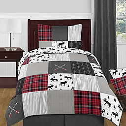 Sweet Jojo Designs® Rustic Patch Bedding Set in Red/Black