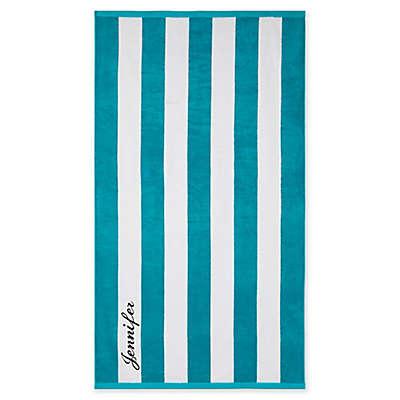 Wamsutta® Personalized Resort Stripe Beach Towel