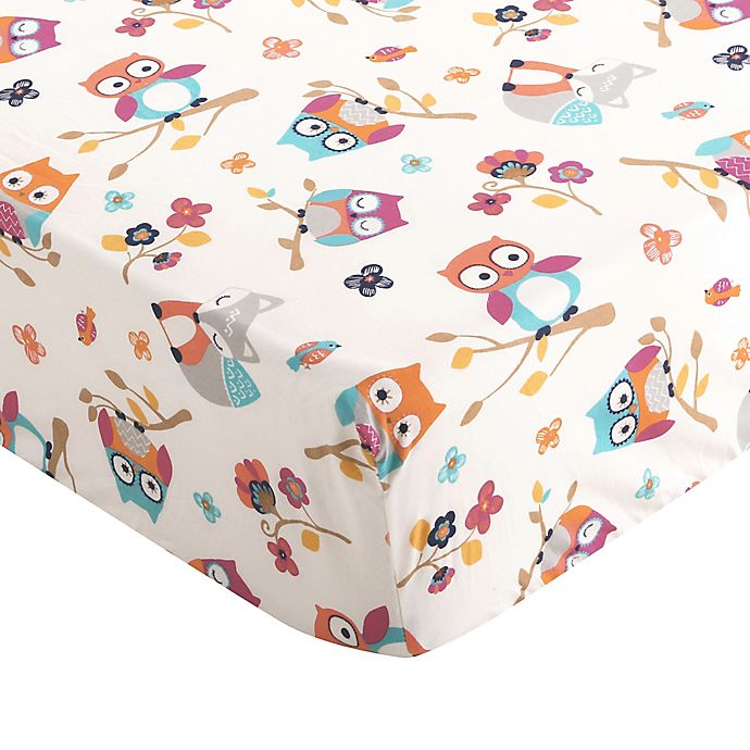 Grey Levtex Home Baby Ely Collection Print Fitted Crib Sheet