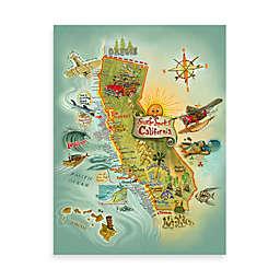 Cali Surf Spots Canvas Poster