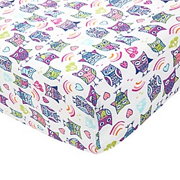 aden® by aden + anais Wise Owl Fitted Crib Sheet in Pink