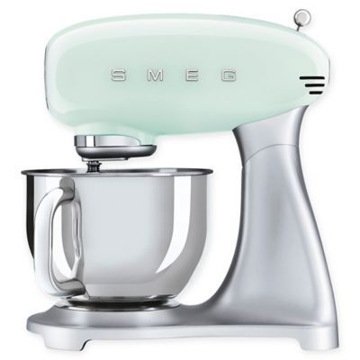 SMEG 50's Retro Style 5 qt. Stand Mixer with Stainless Steel Bowl in Pastel Green