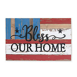 Bless Our Home 12-Inch x 18-Inch Wood Wall Art