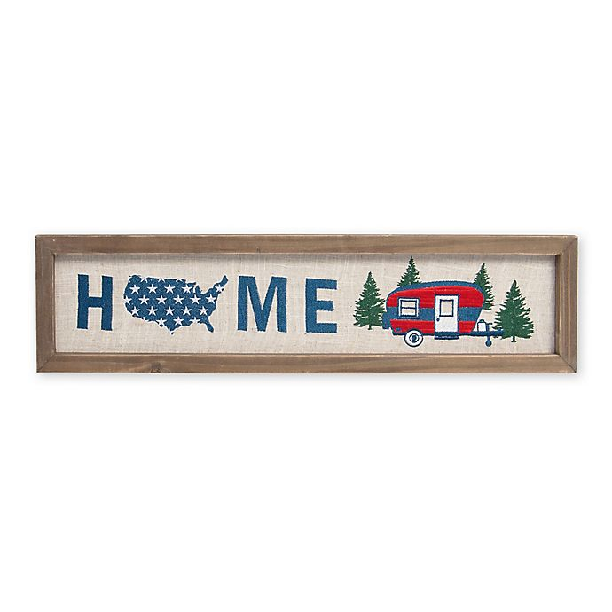 Alternate image 1 for Home Embroidered 6-Inch x 24-Inch Framed Wall Art