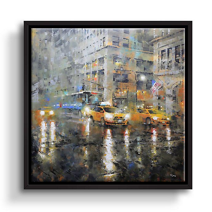Alternate image 1 for Manhattan Orange Rain 10-Inch Square Framed Wall Art
