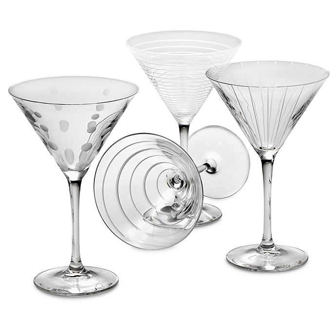 Alternate image 1 for Mikasa® Cheers 10 oz. Martini Glasses (Set of 4)