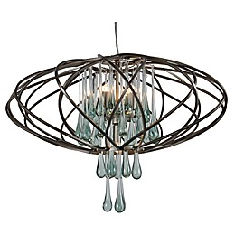 Area 51 5-Light Ceiling-Mount Pendant in Bronze