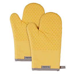 KitchenAid® Asteroid Diamond Oven Mitt in Yellow (Set of 2)