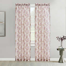 Chambord Crushed Voile Rod Pocket Window Curtain Panel in Lavender