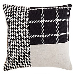 Bee & Willow™ Home Wool Textured Square Throw Pillow in Black/Beige
