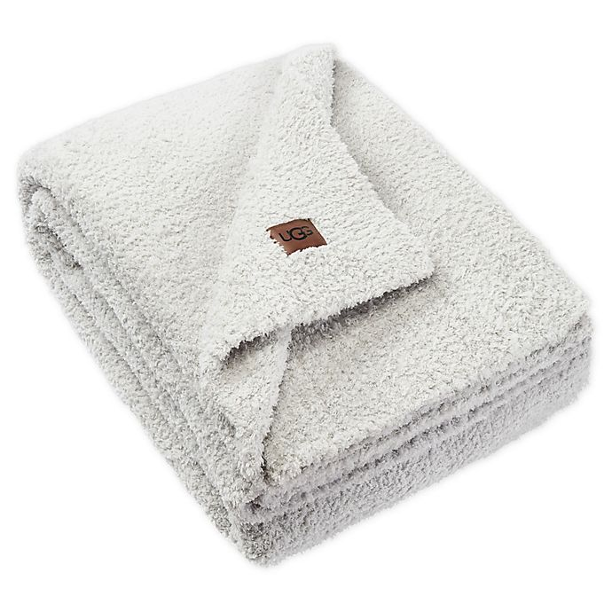 Alternate image 1 for UGG® Olympia Chenille Knit Throw Blanket in Glacier Grey