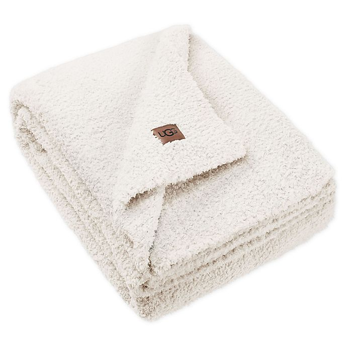 Alternate image 1 for UGG® Olympia Chenille Knit Throw Blanket in Snow