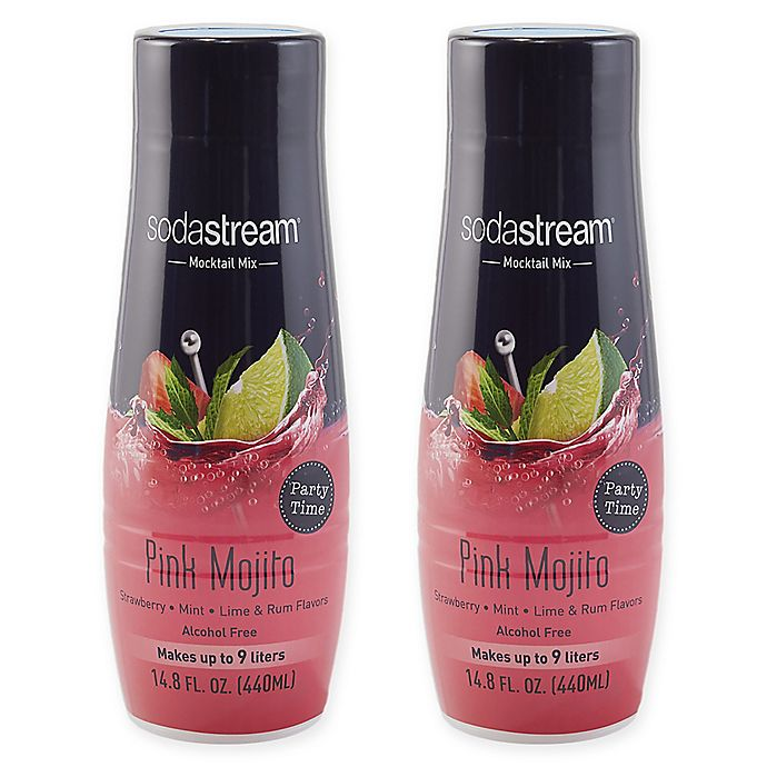Alternate image 1 for SodaStream® 2-Pack Pink Mojito Mocktail Drink Mix