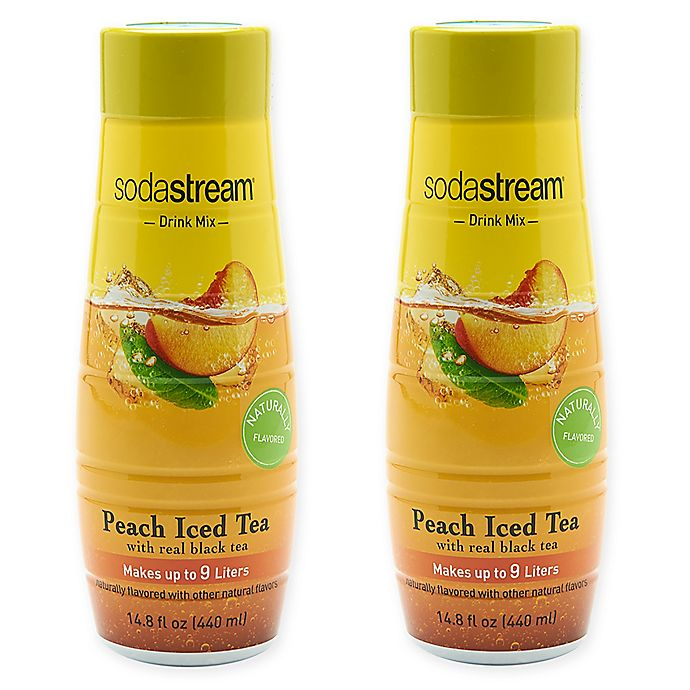 Alternate image 1 for SodaStream® 2-Pack Peach Iced Tea Drink Mix