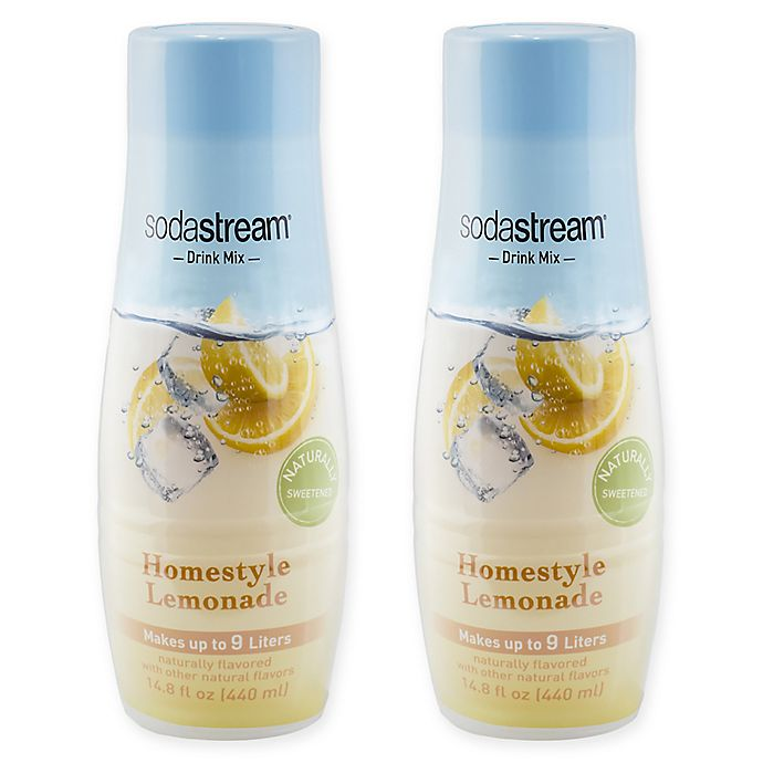 Alternate image 1 for SodaStream® 2-Pack Homestyle Lemonade Drink Mix