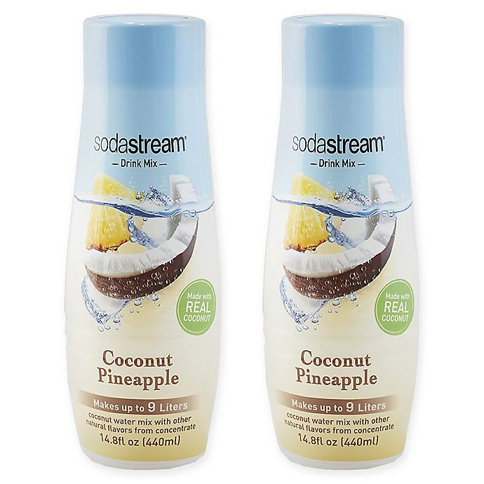 Alternate image 1 for SodaStream® 2-Pack Coconute Pineapple Drink Mix