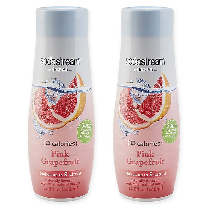 Alternate image 1 for SodaStream® 2-Pack Pink Grapefruit Drink Mix