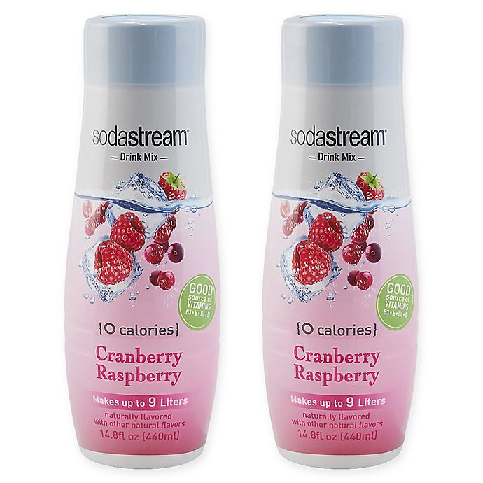 Alternate image 1 for SodaStream® 2-Pack Zero Cranberry Raspberry Drink Mix