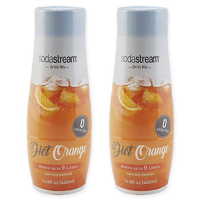 Alternate image 1 for SodaStream® 2-Pack Diet Orange Drink Mix