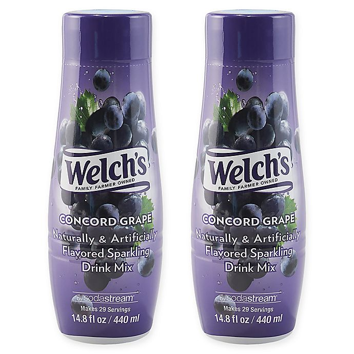 Alternate image 1 for SodaStream® Welch's® 2-Pack Concord Grape Drink Mix
