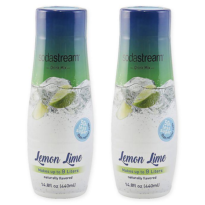 Alternate image 1 for SodaStream® 2-Pack Lemonade Lime Drink Mix