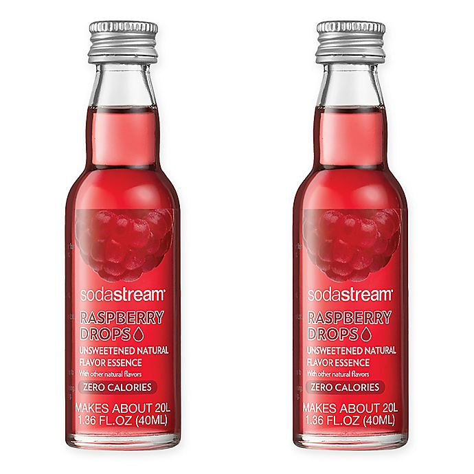 Alternate image 1 for SodaStream® 2-Pack Raspberry Fruit Drops Drink Mix
