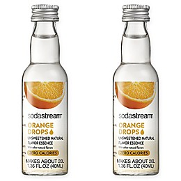 SodaStream® 2-Pack Orange Fruit Drops Drink Mix