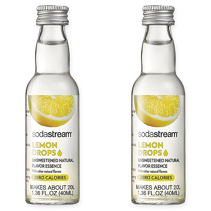 Alternate image 1 for SodaStream® 2-Pack Lemon Fruit Drops Drink Mix