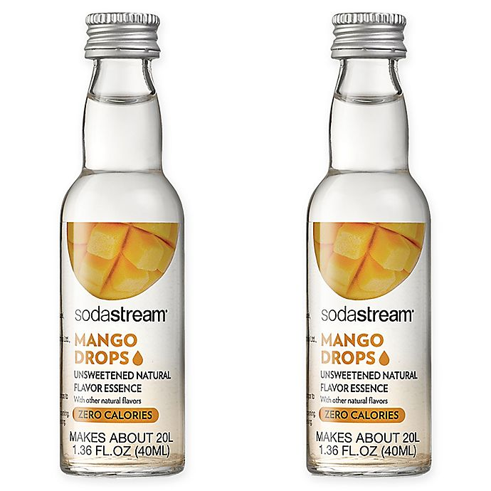 Alternate image 1 for SodaStream® 2-Pack Mango Fruit Drops Drink Mix