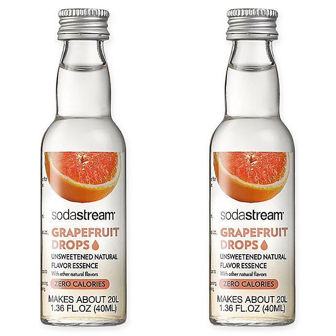Alternate image 1 for SodaStream® 2-Pack Grapefruit Fruit Drops Drink Mix