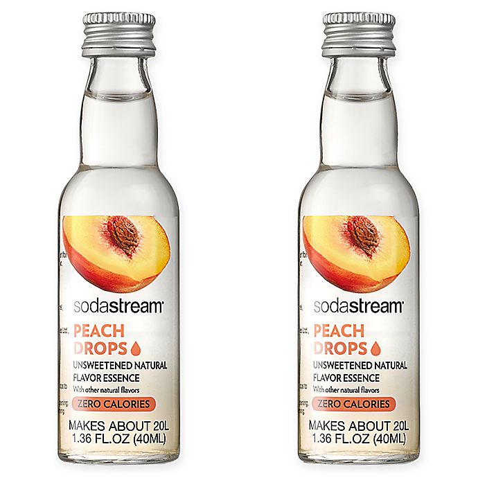 Alternate image 1 for SodaStream® 2-Pack Peach Fruit Drops Drink Mix