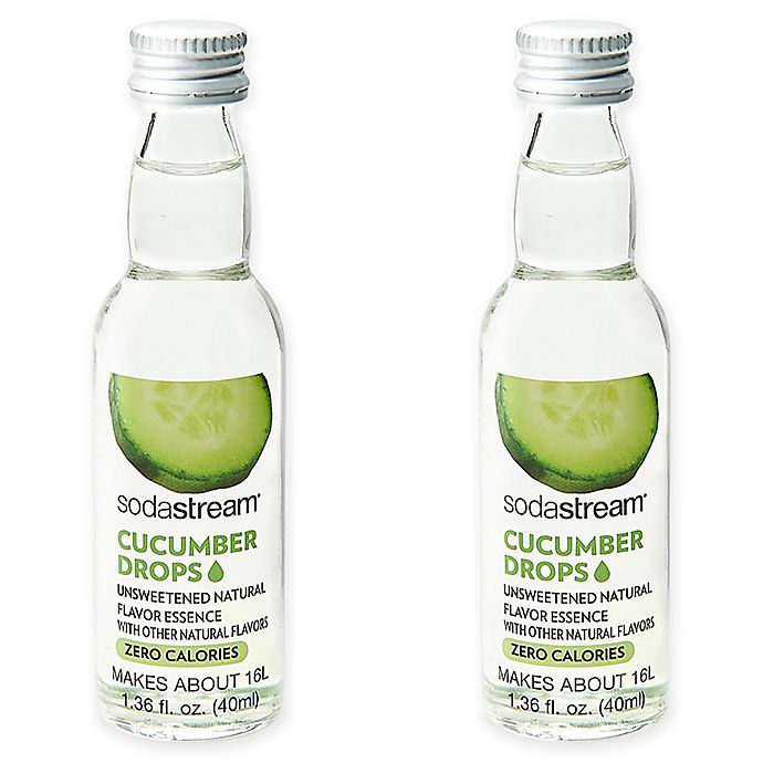 Alternate image 1 for SodaStream® 2-Pack Cucumber Fruit Drops Drink Mix