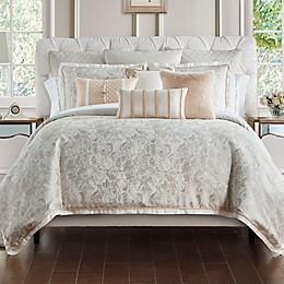 Waterford® Belissa Reversible Duvet Cover Set in Ivory