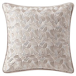 Waterford® Gisella Embroidered Square Throw Pillow in Blush/Ivory