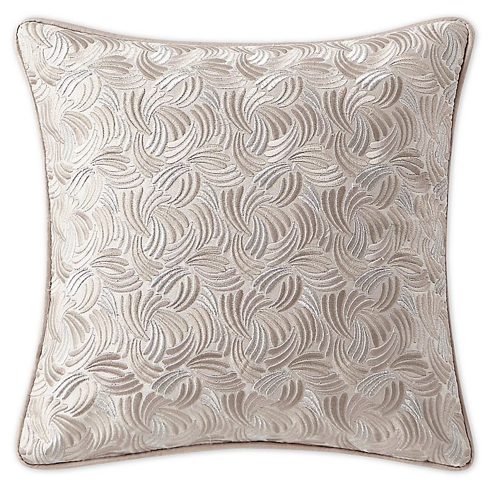 Alternate image 1 for Waterford® Gisella Embroidered Square Throw Pillow in Blush/Ivory