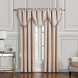 Waterford® Gisella 84-Inch Rod Pocket Window Curtain Panel Pair in Blush/Ivory