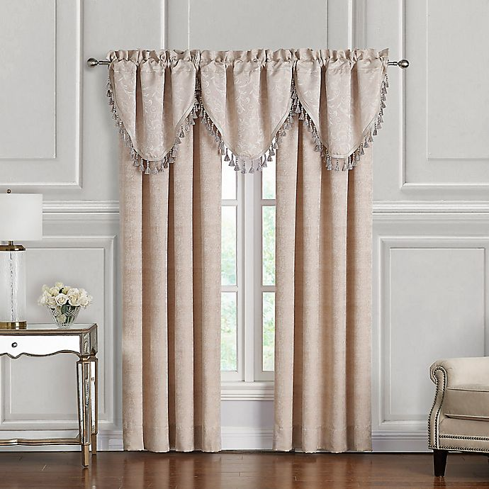 Alternate image 1 for Waterford® Gisella 2-Pack 84-Inch Rod Pocket Window Curtain in Blush/Ivory