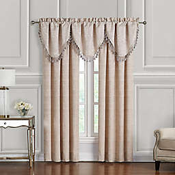 Waterford® Gisella Cascade Valances in Blush/Ivory (Set of 3)
