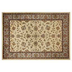 Verona Classic 3'3 x 4'7 Accent Rug in Ivory/Blue