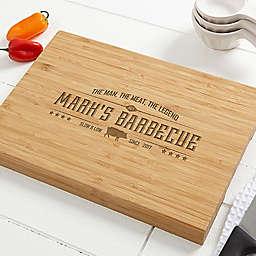 Man, Meat, Legend 10-Inch x 14-Inch Bamboo Cutting Board