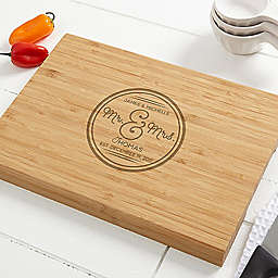 Circle of Love 10-Inch x 14-Inch Bamboo Cutting Board