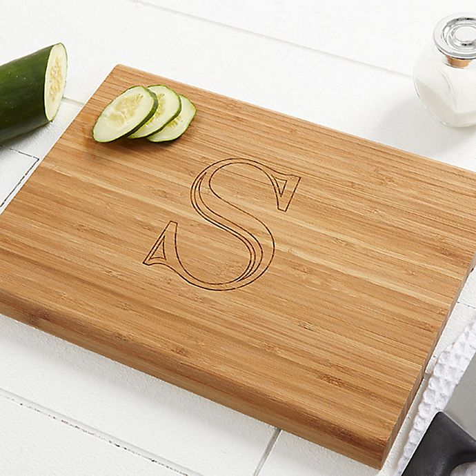 Chef S Monogram 10 Inch X 14 Inch Bamboo Cutting Board Bed Bath Beyond