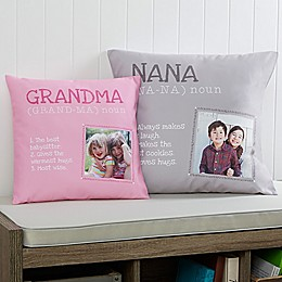 Definition of Grandma Square Photo Pillow