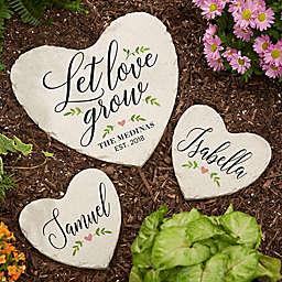"""""""Let Love Grow"""" Heart Garden Stone"""