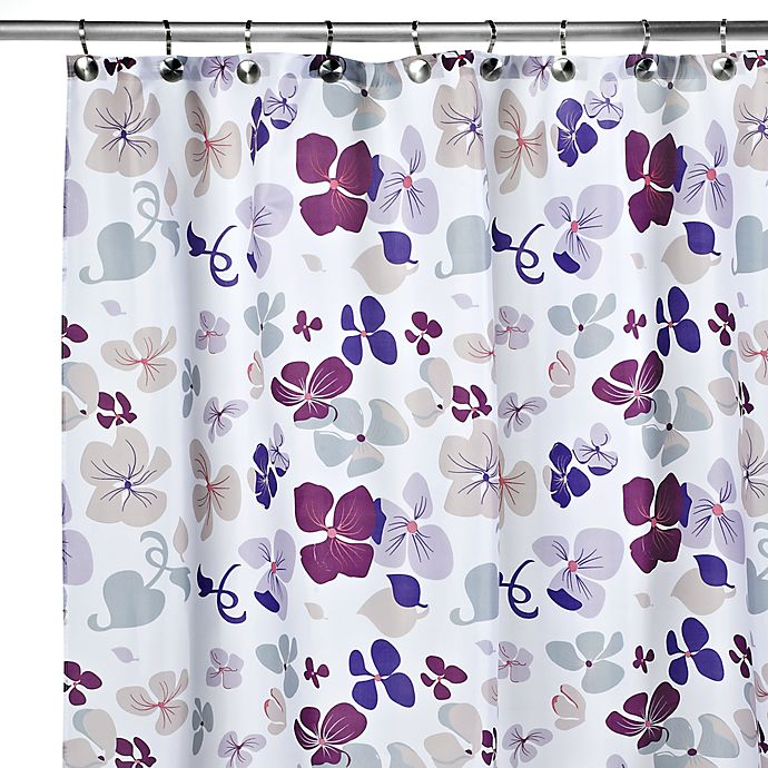 Carnation Home Fashions Joanne 108 Inch X 72 Fabric Shower Curtain