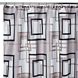 Carnation Home Fashions Lexington 108-Inch x 72-Inch Fabric Shower Curtain