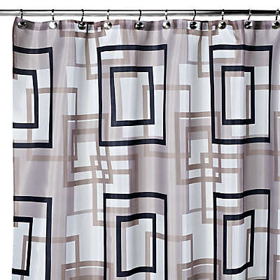 Carnation Home Fashions Lexington 108-Inch x 72-Inch Fabric Shower Curtain